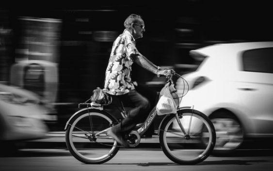 cykler i trafikken